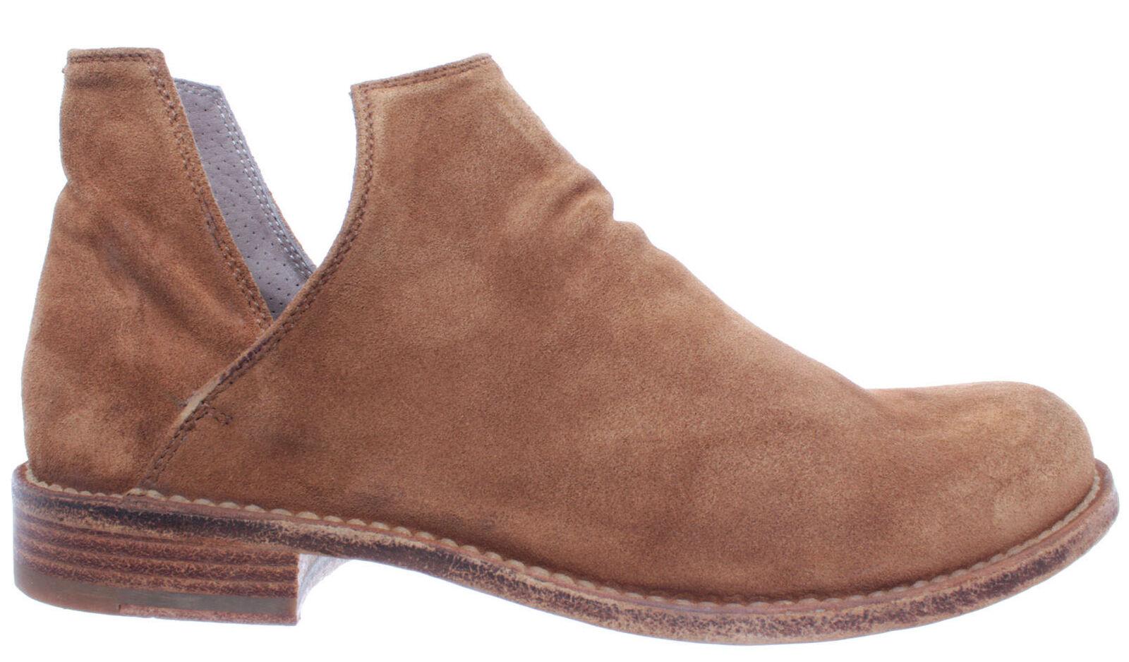Officine Creative zapatos señora botines Legrand 135 Softy cognac antelina