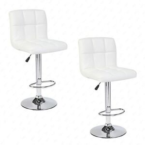 Wonderful Image Is Loading Set Of 2 Modern Design Bar Stools Adjustable