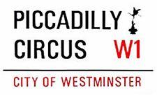 gg Piccadilly Circus London street sign enamel fridge magnet