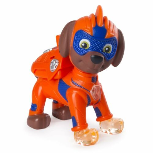 Paw Patrol Mighty Pups Zuma Figure with Light Up pattes et Badge
