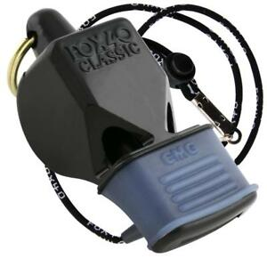 7ab3a72cdbbe BLACK Fox 40 Classic CMG Whistle Official Coach Safety Alert Rescue ...