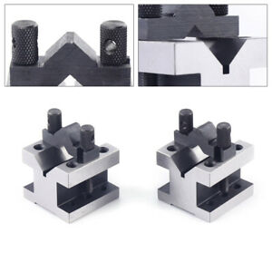 V Blocks And Clamps Set 1-5//8 Inch x 1-1//4 Inch x 1-1//4 Inch With Wooden Case