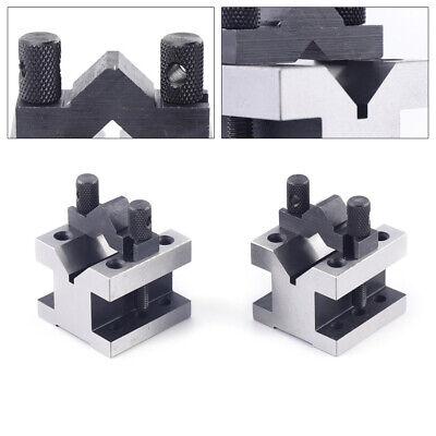 """Precision /""""V/"""" Blocks /& Clamp Tool Gauge V-Blocks Set Workholding 105*105*78mm"""