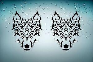 sticker car decal bumper biker motorcycle wolf tribal tuning head big size A4 r2