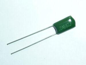 100pcs 2A682J 100V 6.8nF Polyester Film Capacitors