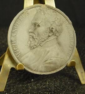 Medal-Stoneware-XIX-Michelangelo-Di-Lodovico-Buonarroti-Simoni