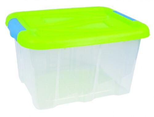 Aufbewahrungsbox mit Deckel Box Lagerbox Aufbewahrungskiste Kiste Grün 30 Liter