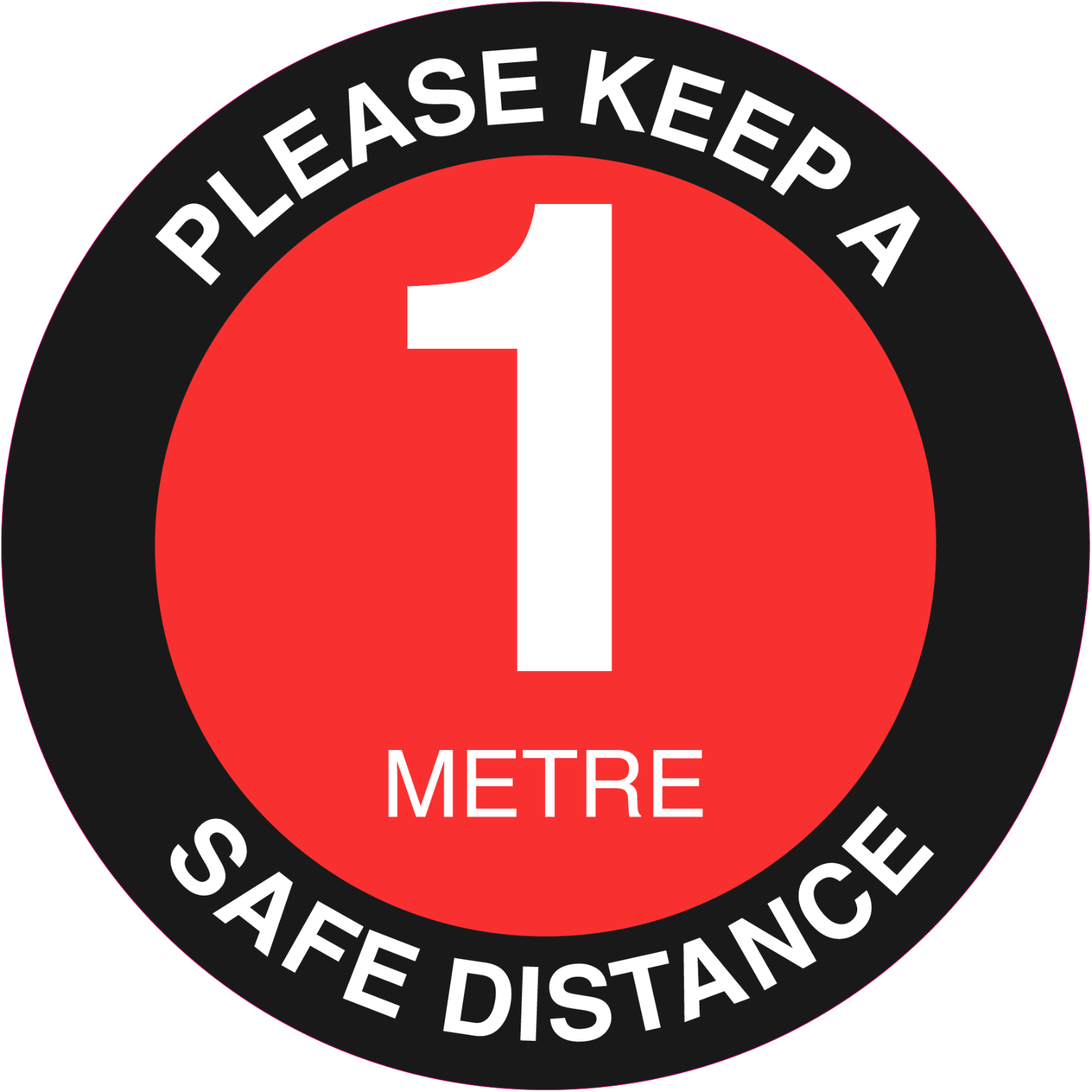 1 Metre Stickers social distancing 1 Metre 1M One Way covi d floor signs face