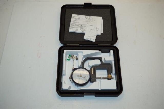 0-10mm Range Mitutoyo 7313 Dial Thickness Gage Lens Reverse Anvil
