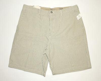 Nwt Mens 38 Izod Saltwater Chinos Green Seersucker Shorts Relaxed