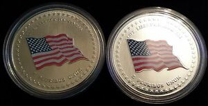 2-United-States-USA-Colored-Flag-Medallion-Token-One-Silver-1-Nickel