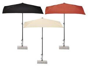 Sonnenschirm Halb Rechteckig : sonnenschirm balkonschirrm eckig platzsparend l160 x b 100 x h 150 230cm auswahl ebay ~ Watch28wear.com Haus und Dekorationen