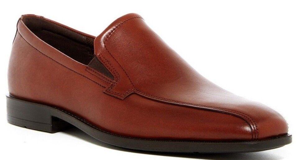 NIB ECCO Edinburgh Modern Venetian Leather Loafer COGNAC Sz EU 43  US 9-9.5 Scarpe classiche da uomo