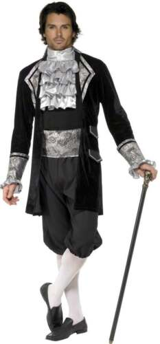 FEVER MALE BAROQUE VAMPIRE COSTUME MENS SIZE 38-40 S HALLOWEEN , MEDIEVAL