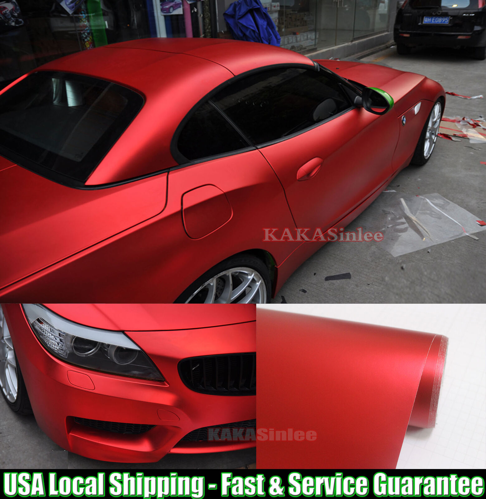 Entire Car Wrap Fast Satin Matte Metal Tiendamia Com