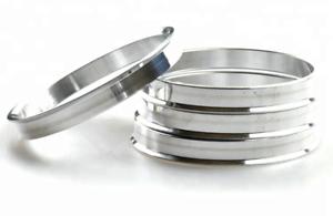 4x anelli di centraggio in alluminio 66,5 x 57,1 mm per ORIGINALE RUOTE AUDI VW SEAT 66,45
