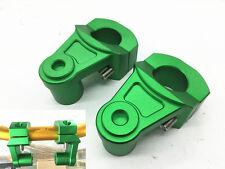 1 Piece CNC HandleBar Fat Bar Mount Clamp Risers Adaptor 28mm Motorcycle Green
