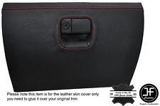 RED STITCHING GLOVE BOX LEATHER COVER FITS MAZDA MX5 MK2 / 2.5 MIATA 98-05