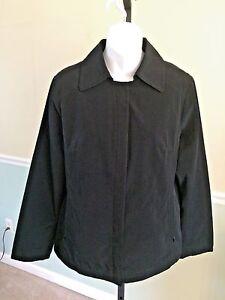 Towne By London Fog Black Polyester Jacket Medium Ebay