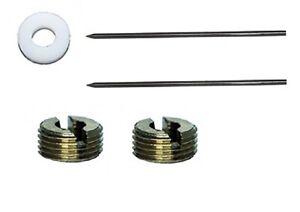 Paasche-5-Parts-Lot-MU-49-2-Needles-MU-61-1-Washer-MU-62-2-Nuts-MIL-Series
