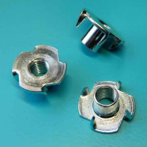 100 Stück Einschlagmutter M10x13,0 Stahl verzinkt für Klettergriffe Mutter v.fc