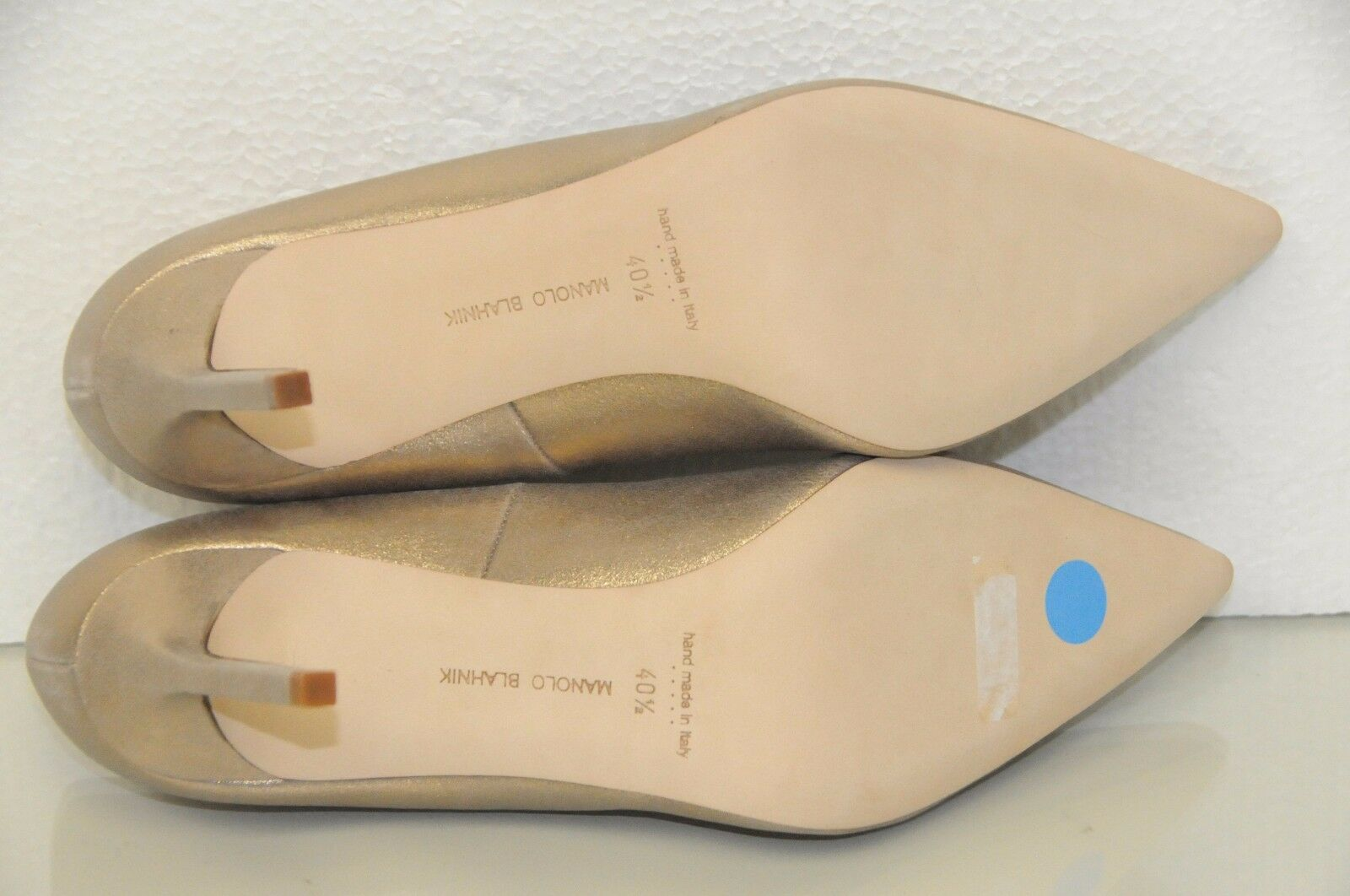 New Manolo Blahnik BB 90 90 90 shimmery or Suede leather chaussures Heels Pumps 40.5 73de2c