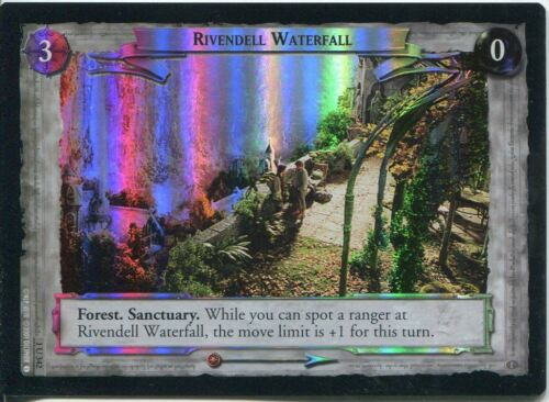 Lord Of The Rings CCG FotR Foil Card 1.U342 Rivendell Waterfall