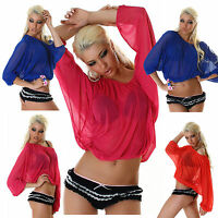 Sexy ladies Clubbing Blouse Long Sleeved Ladies Party Top Size 6 8 10 12 Shirt