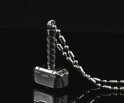 Super Hero Marvel Thor Hammer Pendant Chain Metal necklace Fashion Boy Man LZ13