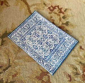 Pat Tyler Dollhouse Miniature Canvas Floorcloth Covering Rug Carpet p491