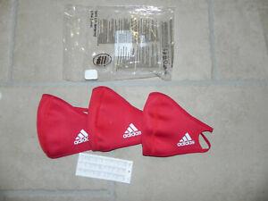 adidas Face Mask CVR small rot red 3er Pack Set NEU Mundschutz Maske 3 Stück