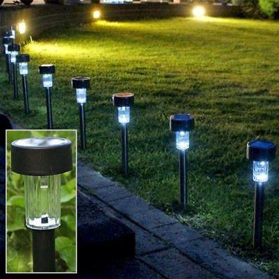 10 Pack-da Giardino Led Solari Ricaricabili Post Pathway Luci Per Illuminazione Per Esterno- Facile E Semplice Da Gestire