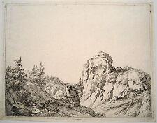 Felslandschaft Kupferradierung  Franz Rechberger (Wien 1771 - 1841) um 1800