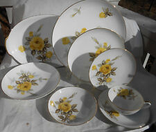 SANGO COTILLION YELLOW ROSE DINNERWARE LOT 29 P DINNER SALAD PLATE PLATTER BOWL