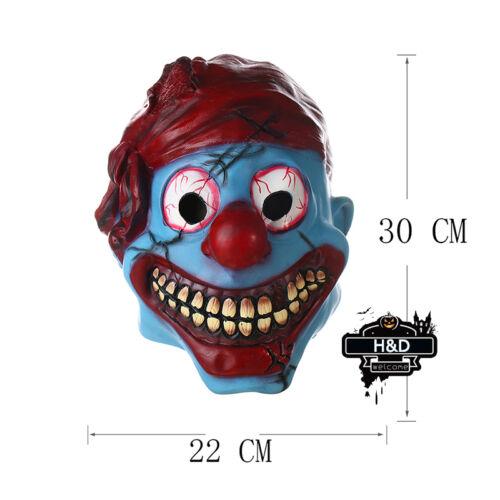 Evil Killer Scary Clown Mask Adult Latex Halloween Fancy Dress Costume Cosplay