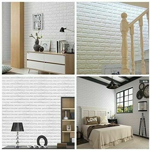 Arthome White Brick 3d Wall Panels Peel And Stick Wallpaper For Living Room Bedr For Sale Online Ebay