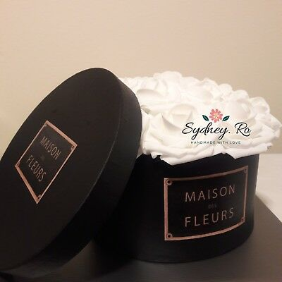 Elegant Maison Des Fleurs//Custom Logo Flower Box Custom Made To Order
