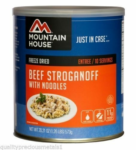 3 - Cans - Beef  Stroganoff - Mountain House Freeze Dried Emergency Food  up to 60% off