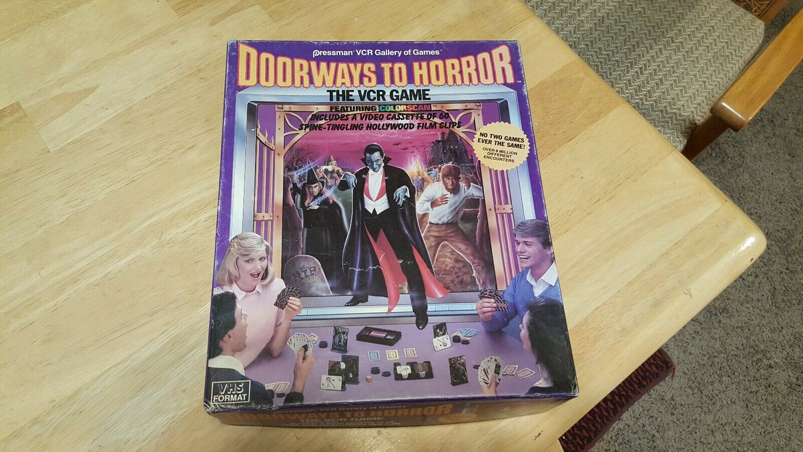1986 DOORWAYS TO HORROR VCR GAME WITH ORIGINAL BOX COMPLETE