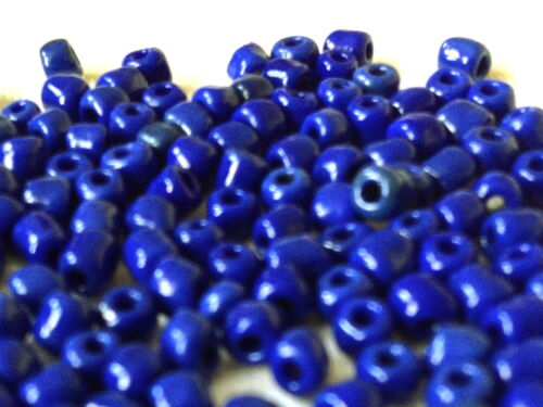 OPAQUE ROYAL BLUE  jewellery making GLASS BEADS 40 grams 100 grams //4mm SB042