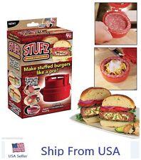 Stufz Stuffed Burger Press Hamburger Patty Maker Juicy BBQ Grill As Seen On TV