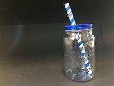 6x ABSOLUT Vodka Jar + 10 Straws Acryl Glas mit Deckel Gläser NEU OVP Cocktail