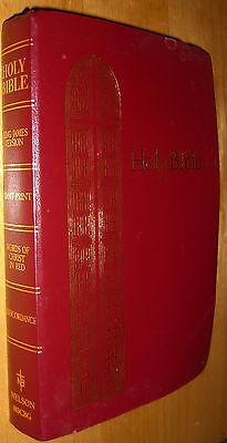 KJV Holy Bible Red Letter Edition Giant Print Concordance Nelson 883CBG 1990