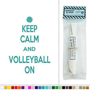 Keep-Calm-and-Volleyball-On-Vinyl-Sticker-Decal-Wall-Art-Decor