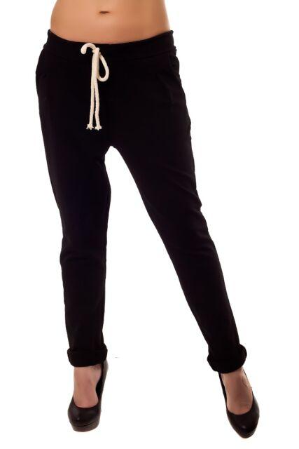 Sweathose 36 38 40 rosa schwarz weiß Kordelbund Sporthose Jogginghose Baumwolle