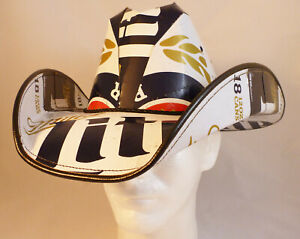 Beer Box Cowboy Hat made from recycled Miller Lite beer boxes
