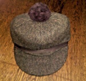 Image is loading Vintage-Child-039-s-Wool-Scotch-Cap-Loden- a9b33b143de
