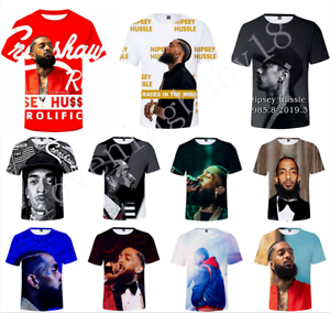 Hot-Rapper-Nipsey-Hussle-3D-Print-Casual-T-Shirt-Men-Women-Short-Sleeve-Tee-Top