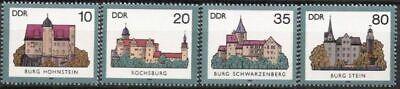 Ddr Nr.2976/79 ** Burgen ii 1985 Postfrisch
