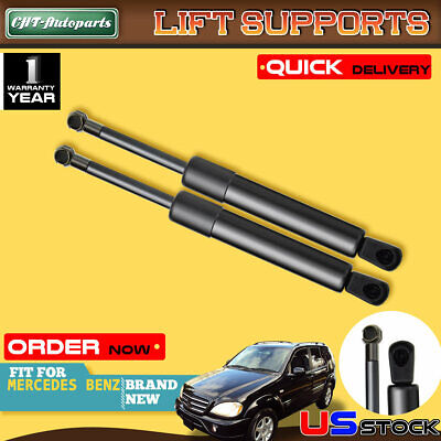 2x Hood Lift Supports Shock Strut for Mercedes Benz W163 ML320 ML350 ML500 ML430